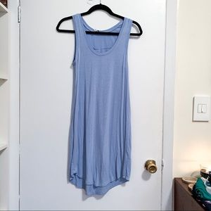 Lulu's blue jersey tank shift dress